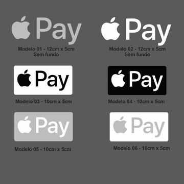 Adesivo Apple Pay Pagamento Por Aproximação Nfc Cartão
