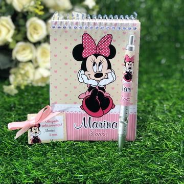 Bloquinho 14x10 com caneta personalizado Minnie