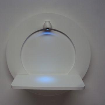 Quadro nicho redondo com luz de led quarto bebe 30 cm