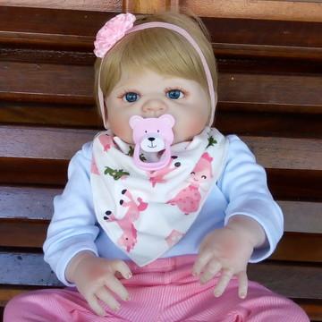 Bebê Reborn PRONTA ENTREGA Corpo Silicone Menina