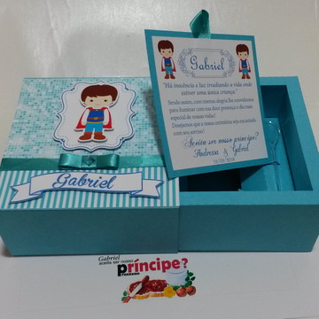 Caixa Convite principe para nutella -arquivo de corte