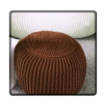 Puff Maxi Trico/Crochê - Pequeno - diversas cores