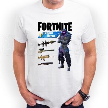Camiseta Fortnite Corvo Raven Outfit Blusa Fortnite