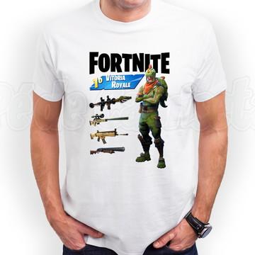 Camiseta Fortnite Rex Outfit Blusa Fortnite