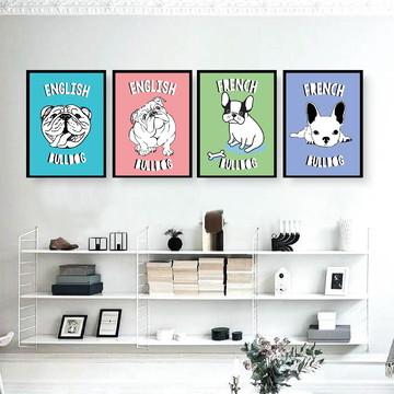 Bulldogues - Quadro decorativo unidade