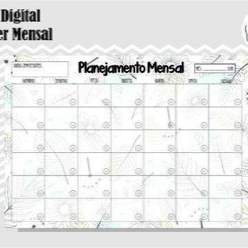 PLANNER MENSAL 32 - ARTE DIGITAL