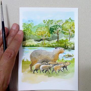 Aquarelas: fauna brasileira