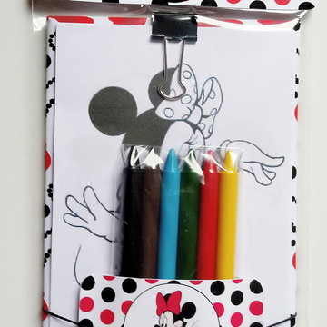 Bloco de Colorir Minnie