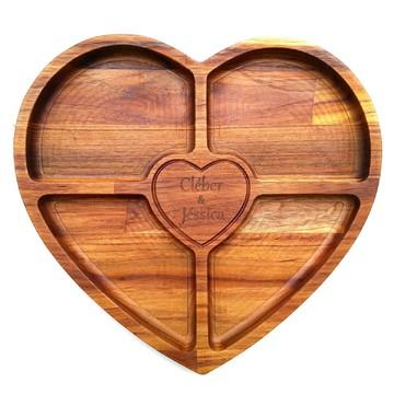 Petisqueira de coração personalizada