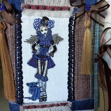 Capa de caderno em tecido URBAN