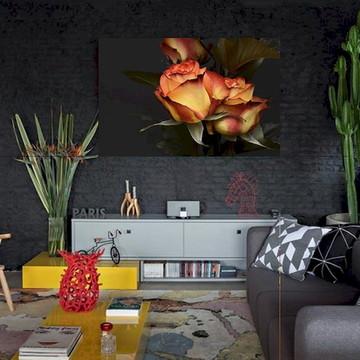 Quadro Parede Em Canvas Decorativo De Sala Flor Jubi