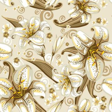 Papel de Parede Autocolante Floral Lírios do Vale Vinil