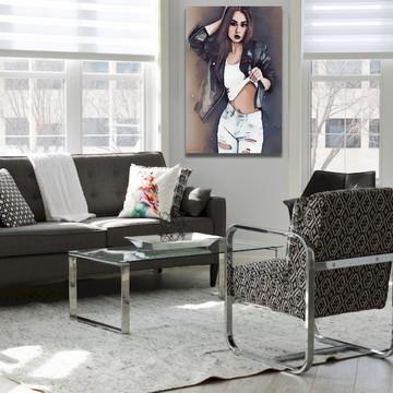 Quadro Em Canvas Decorativo De Sala Loja Mulher Da Moda
