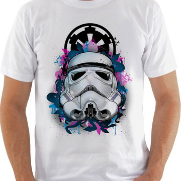 b2cc78be3 Camiseta Camisa Masculina Star Wars StormTrooper Imperio