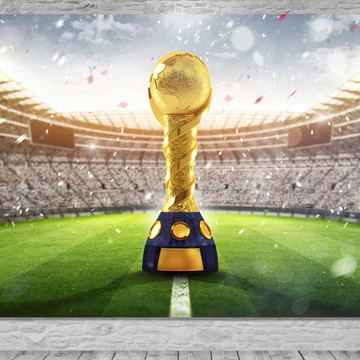 Painel Campo de Futebol / Troféu -Frete Grátis
