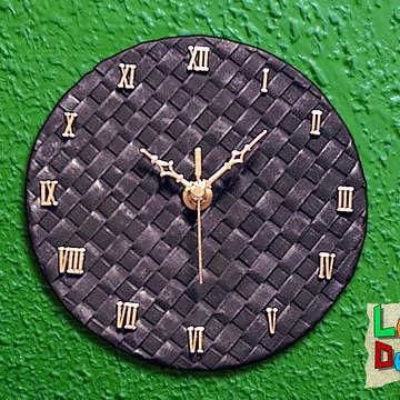 Relógio Treliça - Preto