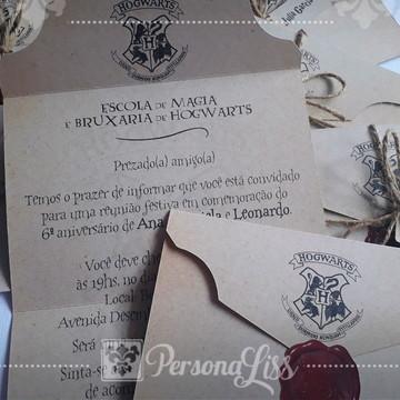 Convite Carta Hogwarts Harry Potter