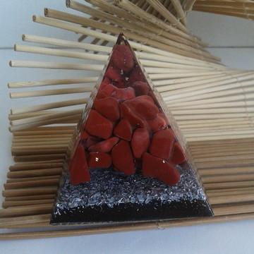 Pirâmide Quéops Jaspe Vermelho