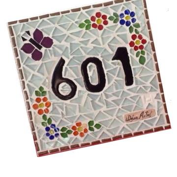 Número em Mosaico 15 x 15 cm