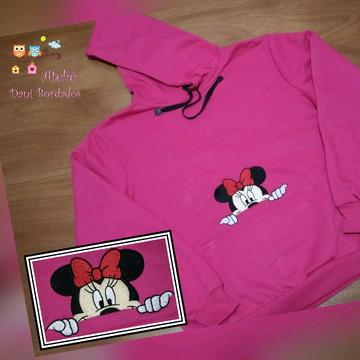 Moletom com capuz bordado Minnie