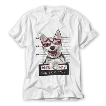 Camiseta Dog Warning