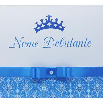 Convite - 15 Anos - Azul Turquesa - Aniversario - Debutante