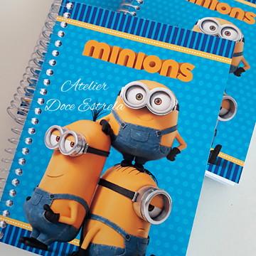 Mini Caderno Capa dura dos Minions + 1 Lápis Personalizado
