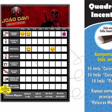 Quadro Educativo Deadpool