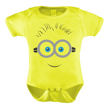 Body Bori Bebê Nenê Personalizado Divertido Minions Óculos