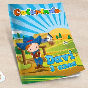 Revista colorir Fazendinha