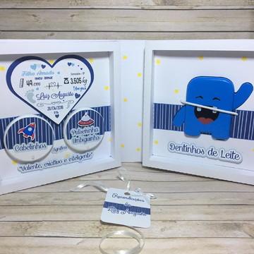 Recordações do bebê DUO + Álbum Dental Astronauta