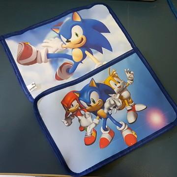 Mini toalha /jogo americano Sonic