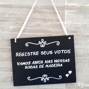.Placa Mensagem / Lousa