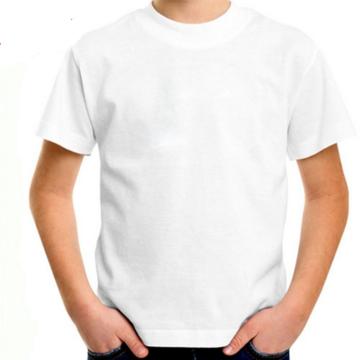 camiseta algodão penteado infantil branca lisa camisa unifor