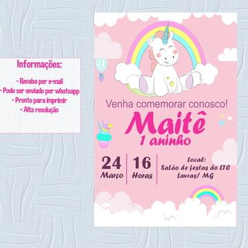 Convite digital - Unicórnio