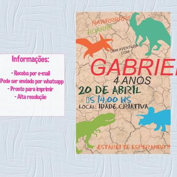 Convite digital - Dinossauros