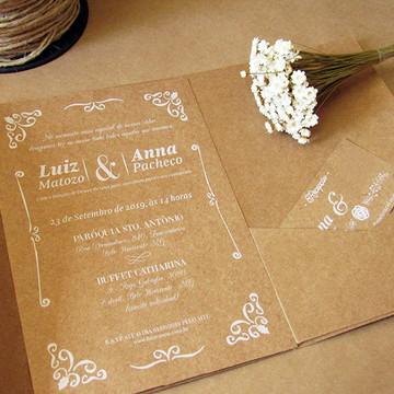 Convite de Casamento Rústico Chic Renda3