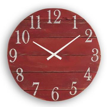 Relógio Parede Ripas Patina Rústico MADEIRA-10%OFF