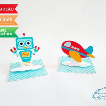 Aplique 3D brinquedos