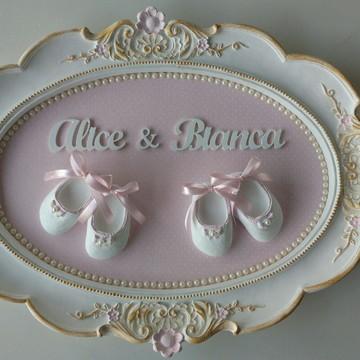 Quadro Provençal Gemeas: Alice e Bianca