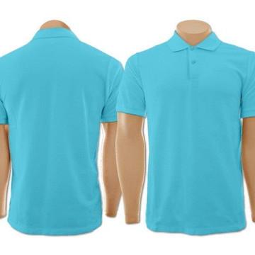 e5e27fd075 Camiseta Gola Polo Azul Turquesa Masculina