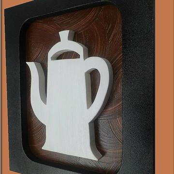trio de Quadros Decorativos De Cozinha Café