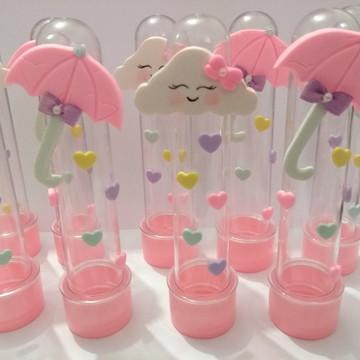 Tubetes tema chuva de amor