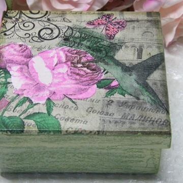 Caixa MDF com decoupagem e pátina