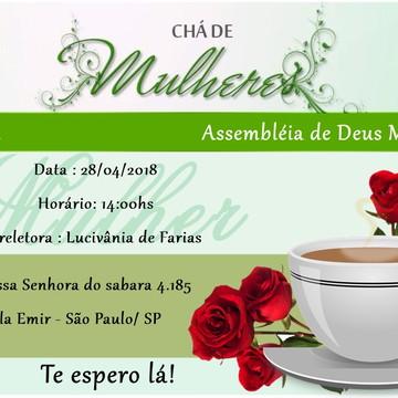 Arquivo Digital Convite Chá de Mulheres