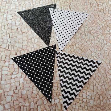 Bandeirola Padrões Preto e Branco