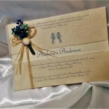 Convite de Casamento Praia 3