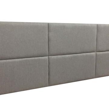 Cabeceira Estofada Casal Bloco Alce Couch Linho Cinza Gengib