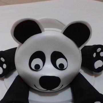 Porta celular urso panda em EVA
