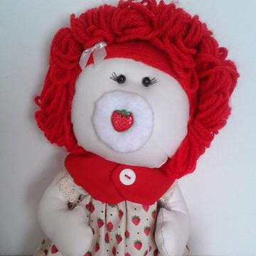 Boneca de Pano bebê Moranguinho